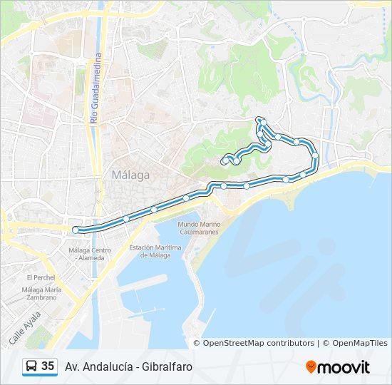 35 Route: Time Schedules, Stops & Maps - Avda. Aurora ... on cathedral of malaga, festival malaga, costa del sol spain malaga,