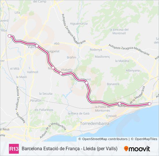 Marshrut R13 Raspisanie Shema I Ostanovki La Plana De Picamoixons