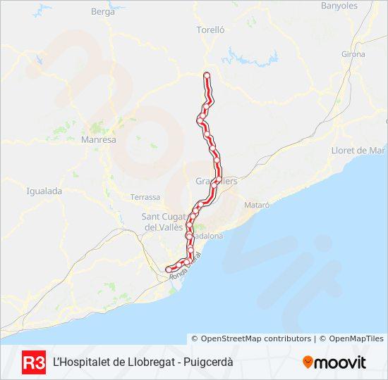 Linea R3 Horarios Mapas Y Paradas Vic