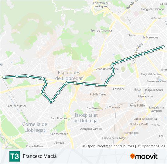 Linea T3 Horarios Mapas Y Paradas Francesc Macia