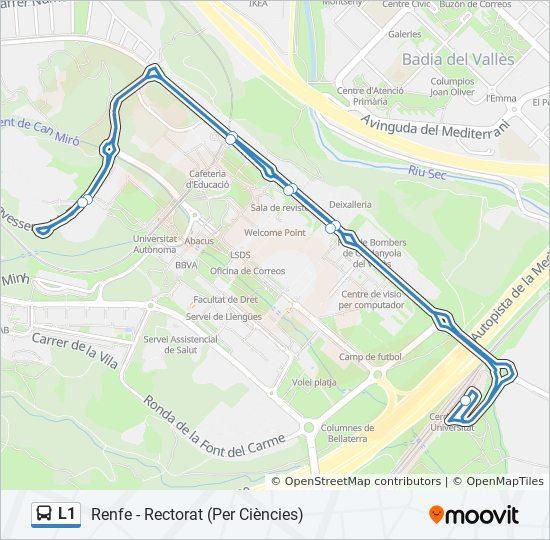 Linea L1 Horarios Mapas Y Paradas Renfe Rectorat Per Ciencies
