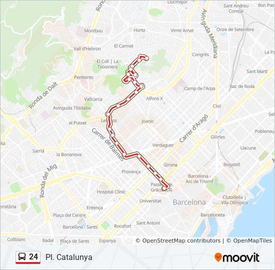 Linie 24: Fahrpläne, Haltestelle & Karten - Pl. Catalunya
