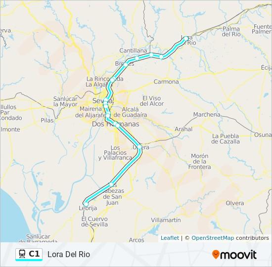 Linea C1 Horarios Mapas Y Paradas Lora Del Rio