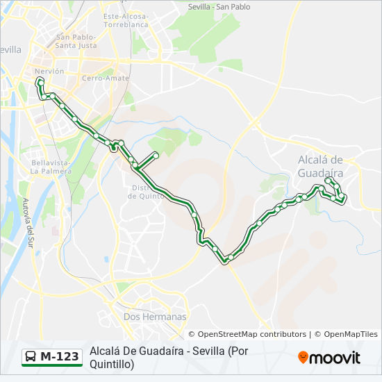 M-123 Route: Time Schedules, Stops & Maps - Sevilla