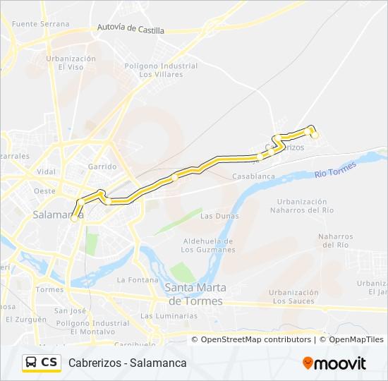 Salamanca Spanien Karte.Linie Cs Fahrpläne Haltestelle Karten Cabrerizos Salamanca