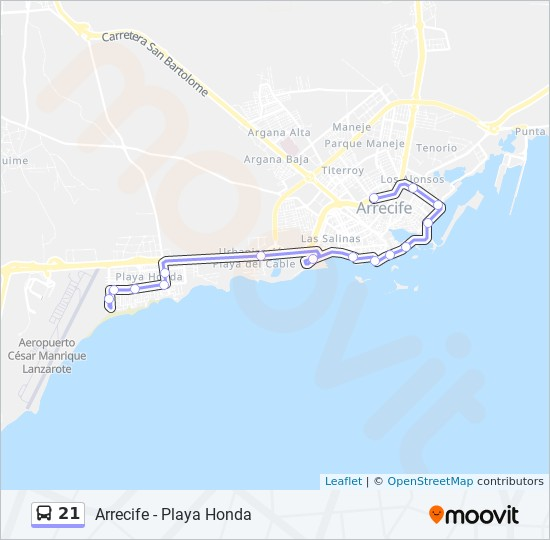Street Map Of Quesada Spain.21 Route Time Schedules Stops Maps Arrecife