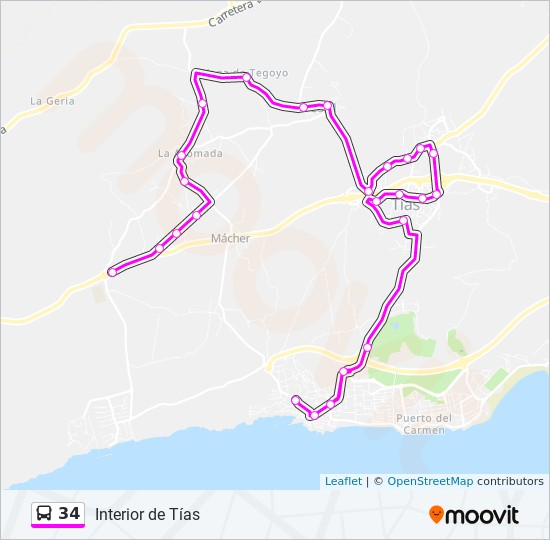 34 Route Time Schedules Stops Amp Maps M 225 Cher