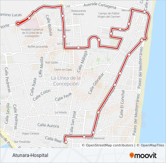 Mapa de LC-1 de autobús
