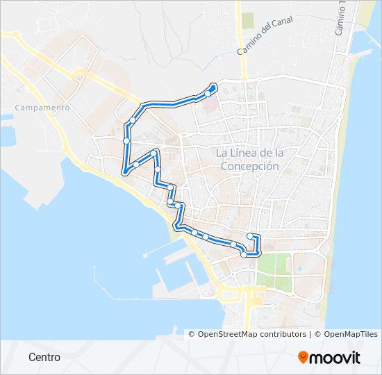 Mapa de LC-2 de autobús