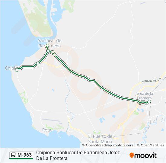 Jerez De La Frontera Karte.Linie M 963 Fahrpläne Haltestelle Karten Chipiona