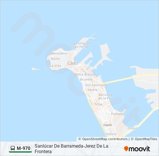 Jerez De La Frontera Karte.Linie M 970 Fahrpläne Haltestelle Karten Jerez