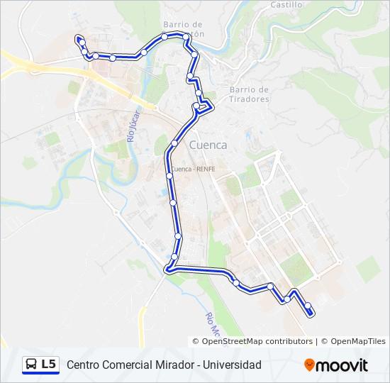 L5 bus Line Map
