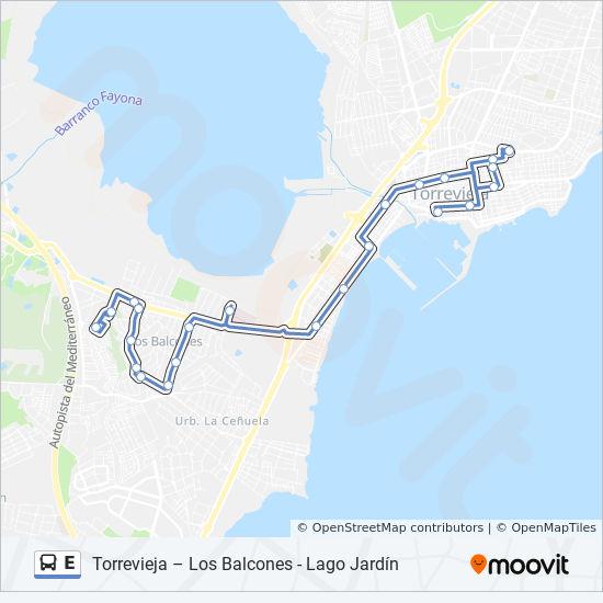 E Route Dienstregeling Haltes Kaarten Torrevieja Eras De
