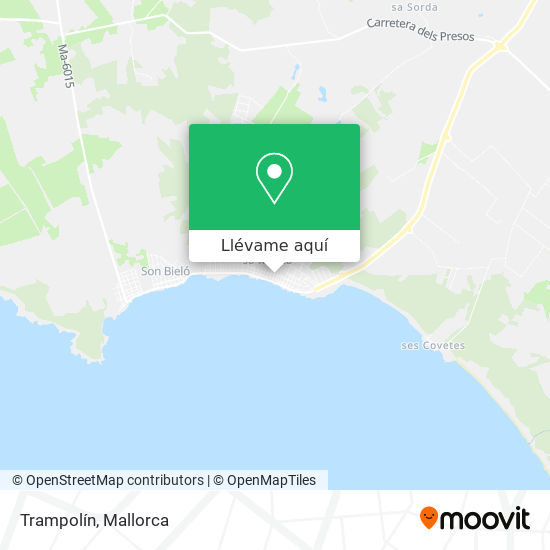 Mapa Trampolín
