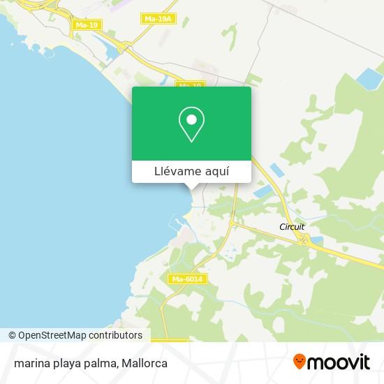 Mapa marina playa palma