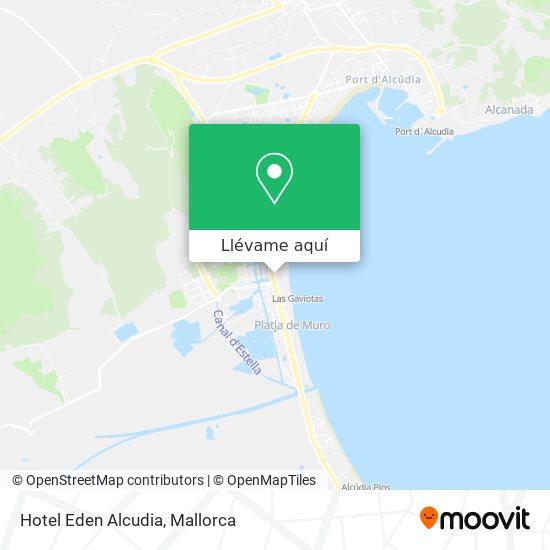 Mapa Hotel Eden Alcudia