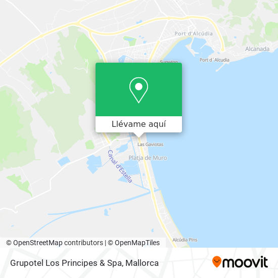 Mapa Grupotel Los Principes & Spa