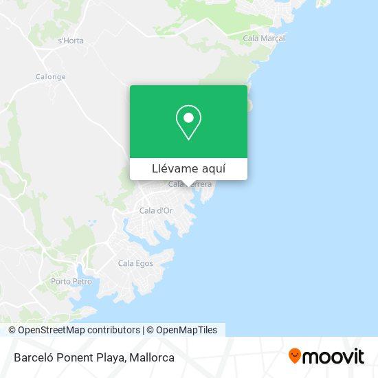 Mapa Barceló Ponent Playa
