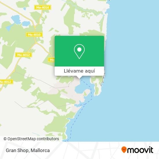 Mapa Gran Shop