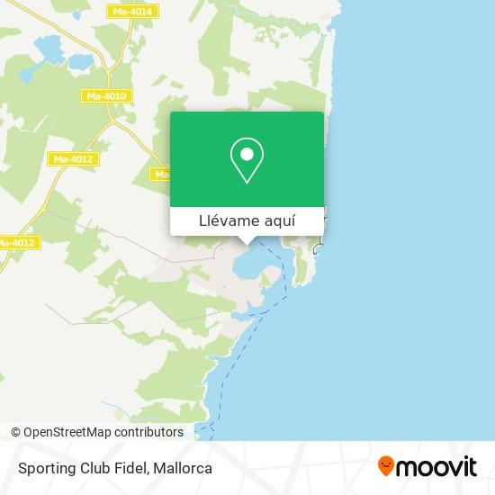 Mapa Sporting Club Fidel