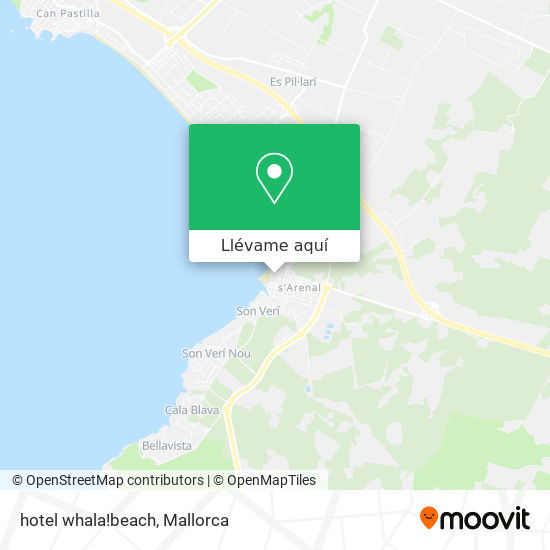 Mapa hotel whala!beach