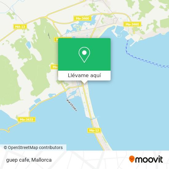 Mapa guep cafe