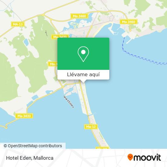 Mapa Hotel Eden