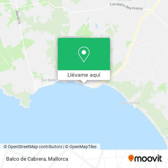 Mapa Balco de Cabrera