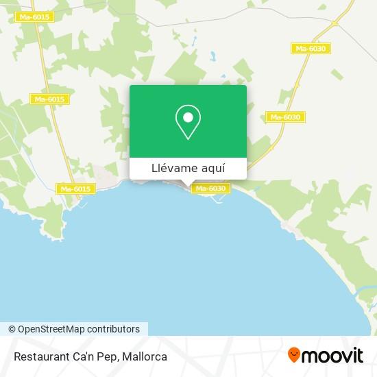 Mapa Restaurant Ca'n Pep