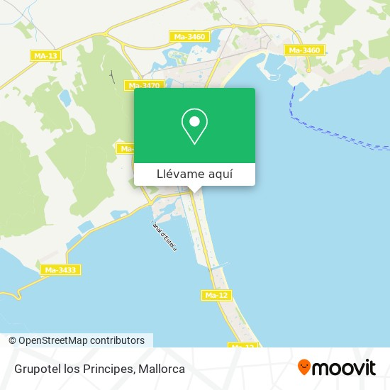 Mapa Grupotel los Principes
