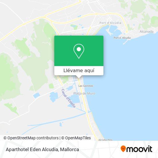 Mapa Aparthotel Eden Alcudia