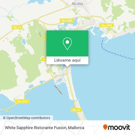 Mapa White Sapphire Ristorante Fusion