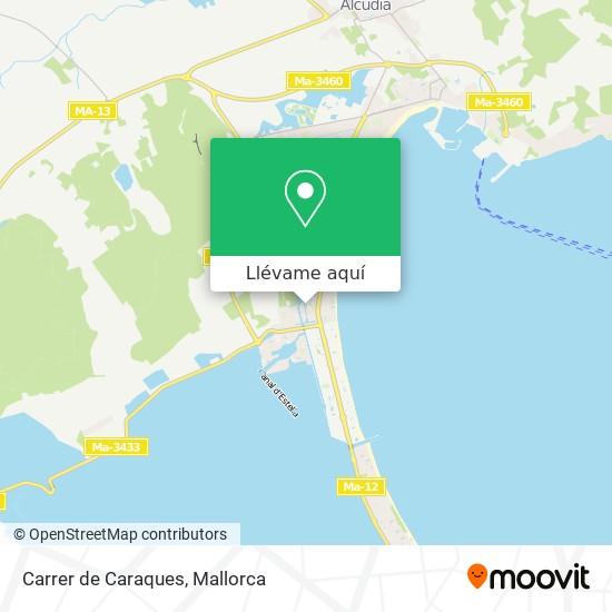 Mapa Carrer de Caraques