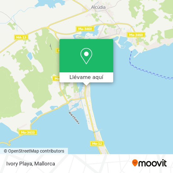 Mapa Ivory Playa
