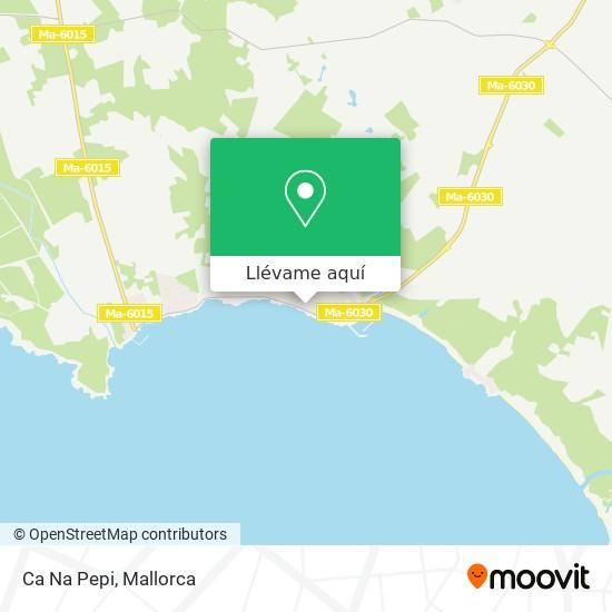 Mapa Bar Ca Na Pepi