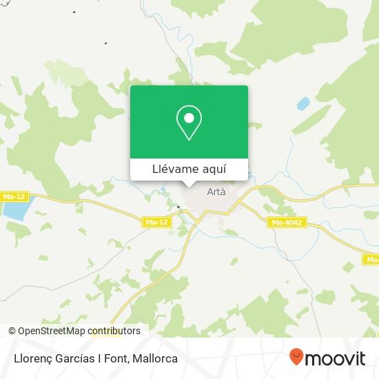 Mapa Llorenç Garcías I Font