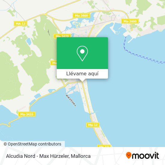 Mapa Alcudia Nord - Max Hürzeler