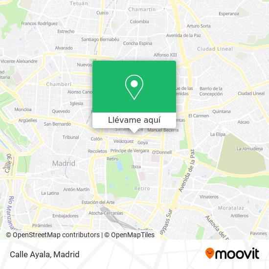 Mapa Calle Ayala