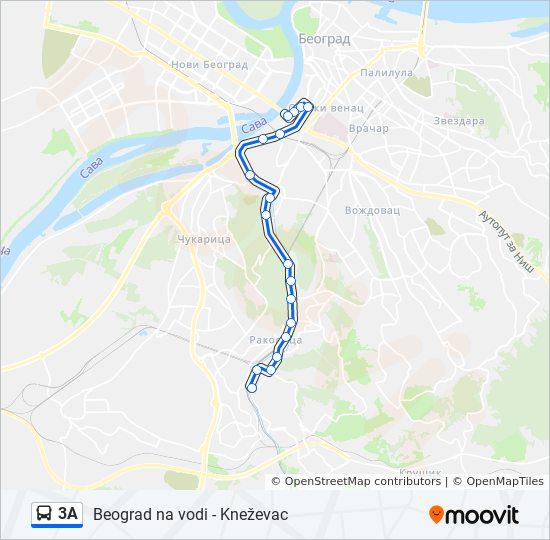 3a Route Time Schedules Stops Maps Knezevac