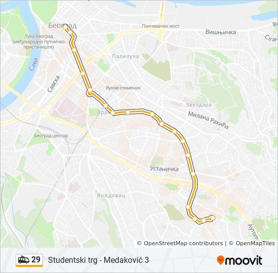 medakovic beograd mapa Línea 29: horarios, mapas y paradas medakovic beograd mapa