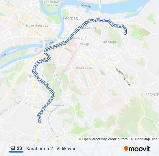 Ruta Ng 23 Iskedyul Ng Oras Hintuan Mapa Vidikovac