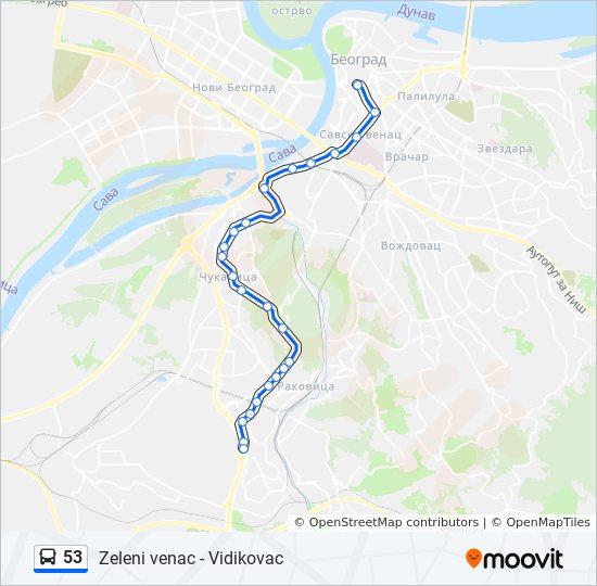 53 Trasa Redovi Voznje Stajalista I Mape Vidikovac