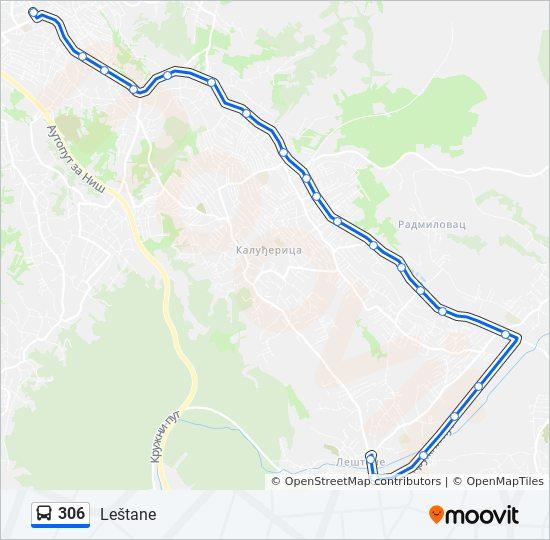 leštane mapa Línea 306: horarios, mapas y paradas leštane mapa
