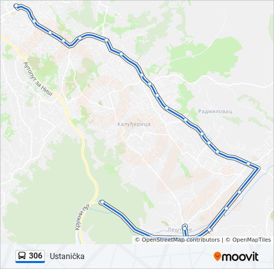 lestane beograd mapa Línea 306: horarios, mapas y paradas lestane beograd mapa