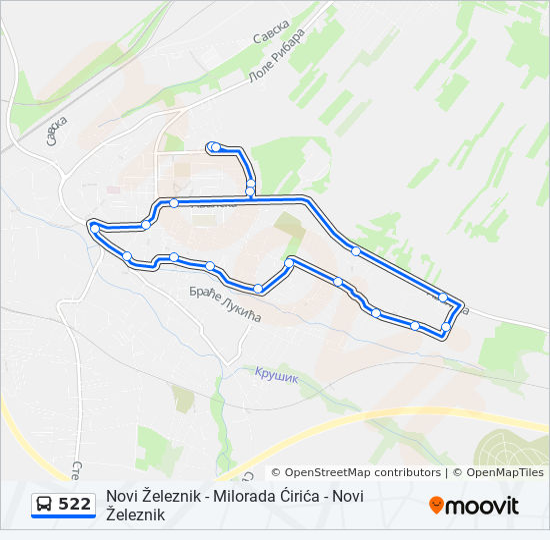 zeleznik mapa Línea 522: horarios, mapas y paradas zeleznik mapa
