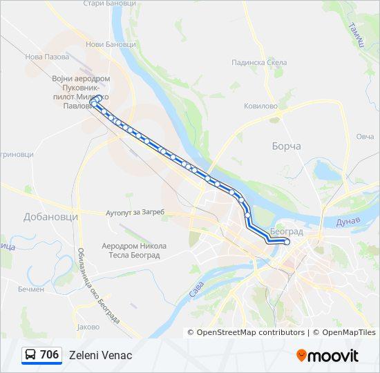 706 Trasa Redovi Voznje Stajalista I Mape Zeleni Venac