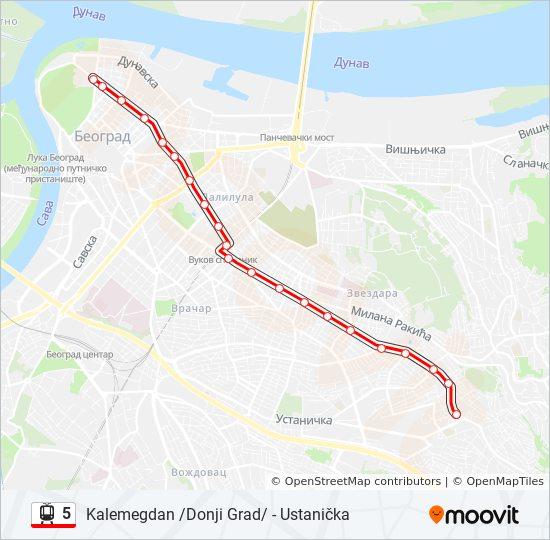 ustanicka beograd mapa Línea 5: horarios, mapas y paradas ustanicka beograd mapa