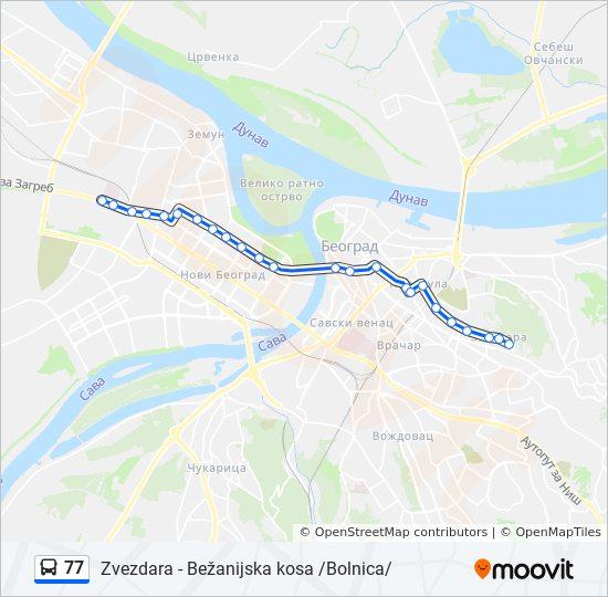 Ruta 77 Vremenski Rasporedi Stanice I Mape Zvezdara