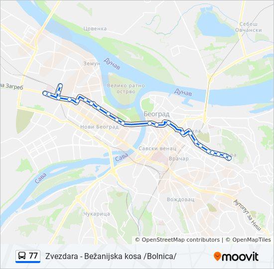 Linea 77 Horarios Mapas Y Paradas