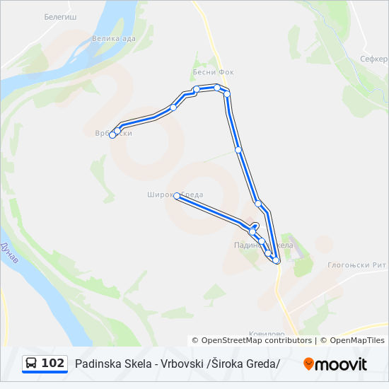 102 Route Time Schedules Stops Maps Vrbovski